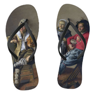 "Molenaer's ""Making Music"" art sandals"