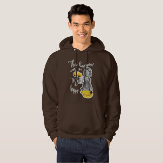 Moletom chocolate banana wants that you are happy hoodie