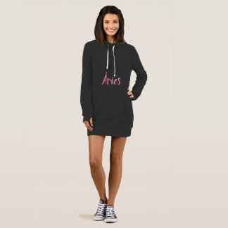 Moletom dress with feminine pointed hood Aries