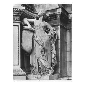 Moliere Fountain, Serious Comedy, 1844 Postcard