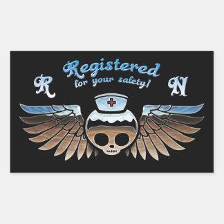 Molly Chrome RN -217 Rectangular Sticker