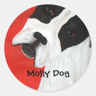 Molly Dog Classic Round Sticker