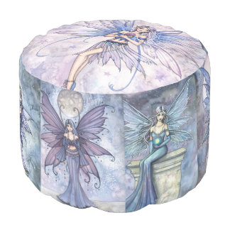 Molly Harrison Fairy Art Round Pouf