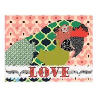Molly Macaw Love Pink Postcard