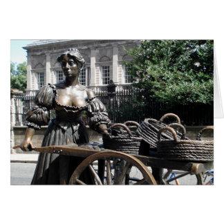 Molly Malone and Wheelbarrow Ireland Card