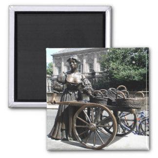 Molly Malone and Wheelbarrow Ireland Magnet