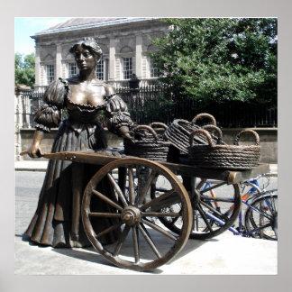 Molly Malone and Wheelbarrow Ireland Print