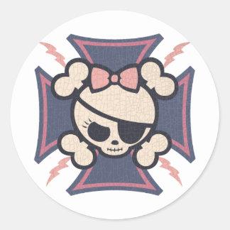 Molly Maltese Classic Round Sticker