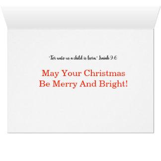 Molly McBride and Santa Card