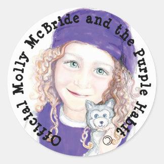 Molly McBride Stickers! Round Sticker