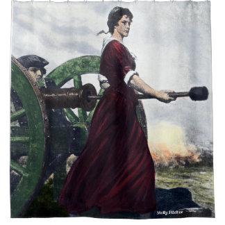Molly Pitcher - Revolutionary War Patriot Shower Curtain