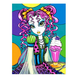 """Molly"" Rainbow Ice Cream Fairy Postcard"