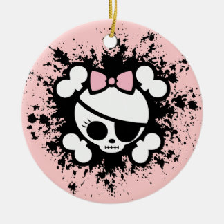 Molly Splat Double-Sided Ceramic Round Christmas Ornament