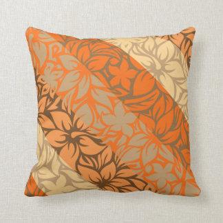 Moloaa Bay Hawaiian Hibiscus Striped Pillows