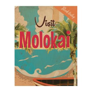 Molokai Vintage Travel Poster
