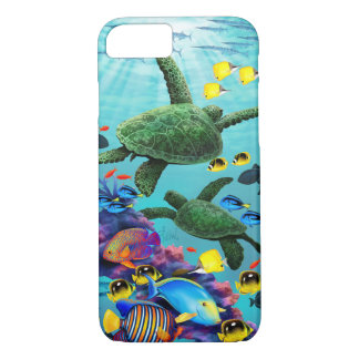 Molokini Cove Hawaiian Sea Turtle Tropical Fish iPhone 8/7 Case