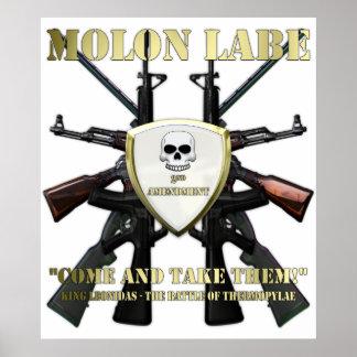 Molon Labe - 2nd Amendment Poster