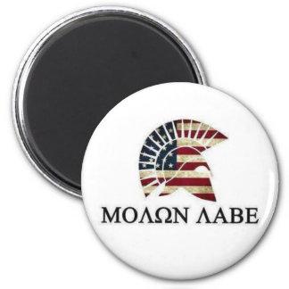 MOLON LABE 6 CM ROUND MAGNET