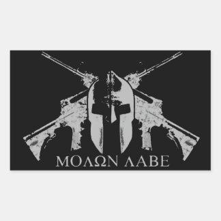 Molon Labe (a) Rectangular Sticker