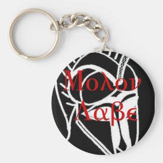 Molon Labe Basic Round Button Key Ring