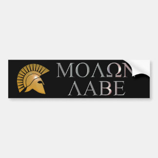 Molon Labe Bumper Sticker - choose your color