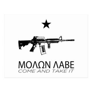 Molon Labe - Come And Take It Post Card