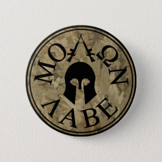 Molon Labe, Come and Take Them 6 Cm Round Badge