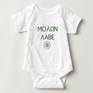Molon Labe (Come and Take Them) Baby Bodysuit