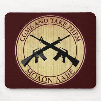 Molon Labe (Come and Take Them) Mouse Pad
