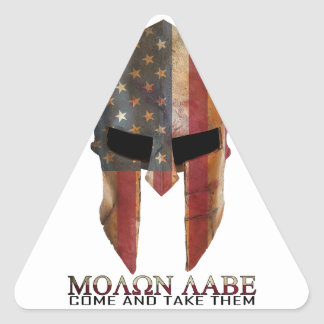 Molon Labe - Come and Take Them USA Spartan Triangle Sticker