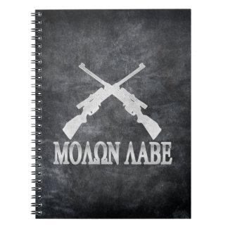 Molon Labe Crossed Rifles 2nd Amendment Spiral Note Book