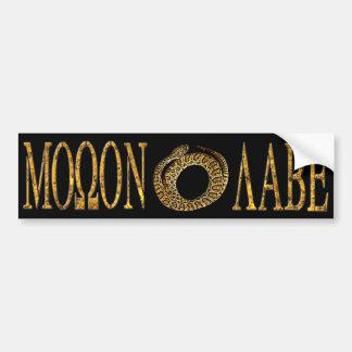 Molon Labe Gadsden Flag Sticker Black Bumper Sticker