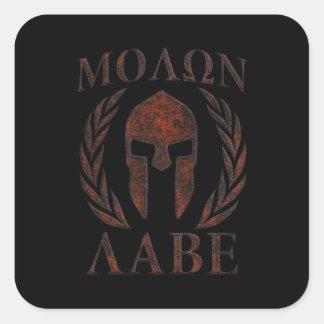 Molon Labe Iron Warrior Laurels Square Sticker