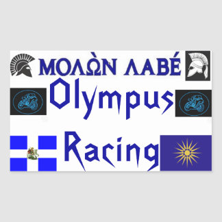 Molon Labe Olympus Racing Sticket Rectangular Sticker