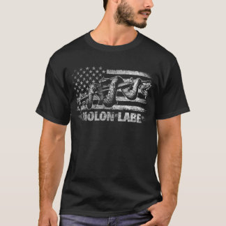 Molon Labe Rattlesnake with American Flag T-Shirt
