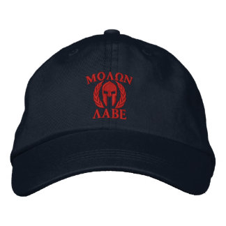 Molon Labe Spartan Helmet Embroidery Embroidered Baseball Caps