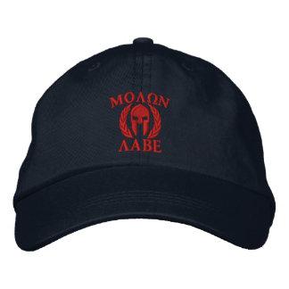 Molon Labe Spartan Helmet Embroidery Embroidered Baseball Caps