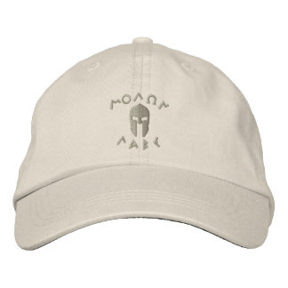Molon Labe Spartan Helmet Embroidery Embroidered Hats