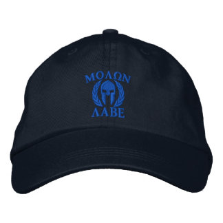Molon Labe Spartan Helmet Embroidery Embroidered Cap