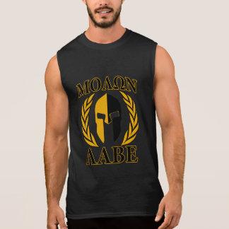 Molon Labe Spartan Mask Laurels Burgundy Decor Sleeveless Shirt