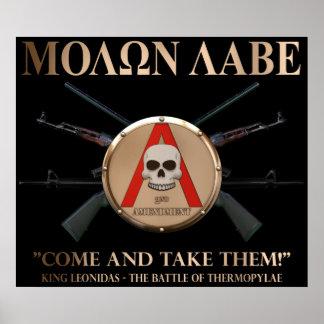 Molon Labe - Spartan Shield Poster