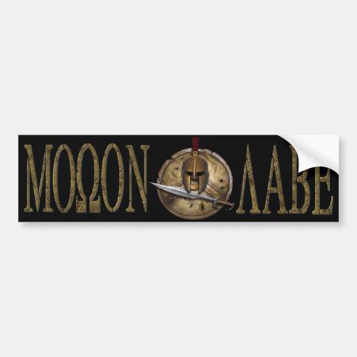 Molon Labe Spartan Sword Bmpr Sticker Bumper Sticker