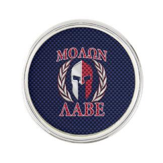 Molon Labe Spartan Warrior Carbon Fiber Style Lapel Pin