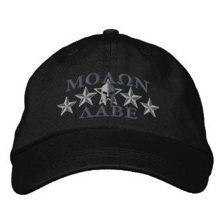 Molon Labe Spartan Warrior Five Stars Embroidered Cap