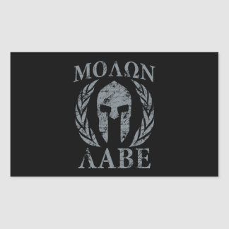 Molon Labe Spartan Warrior Laurels Rectangular Sticker