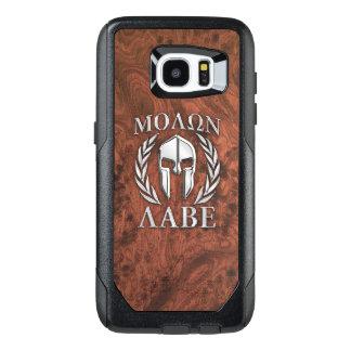 Molon Labe Spartan Warrior Mahogany Print on a OtterBox Samsung Galaxy S7 Edge Case