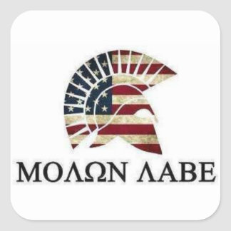 MOLON LABE SQUARE STICKER