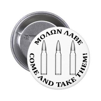 Molon Labe Three Percent 6 Cm Round Badge