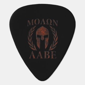 Molon Labe Warrior Laurels Iron Mask Plectrum