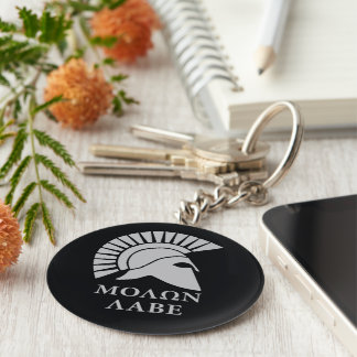 Molon Lave 01 Basic Round Button Key Ring